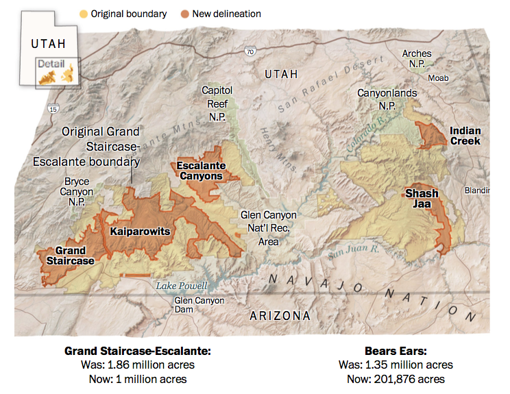 Grand Staircase Escalante National Monument Map